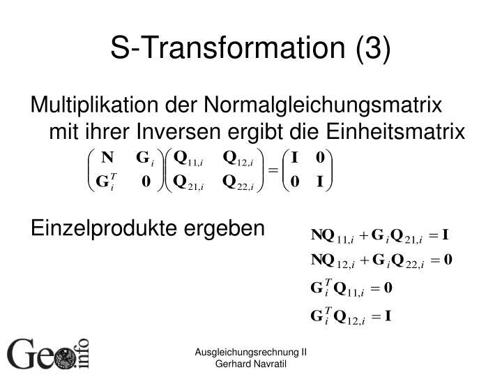 S-Transformation (3)