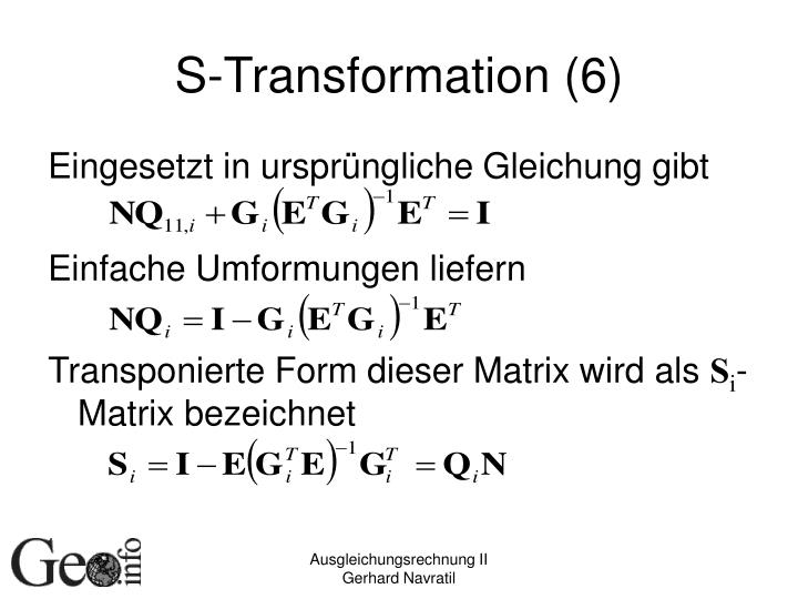 S-Transformation (6)