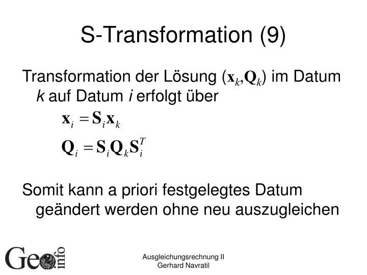 S-Transformation (9)