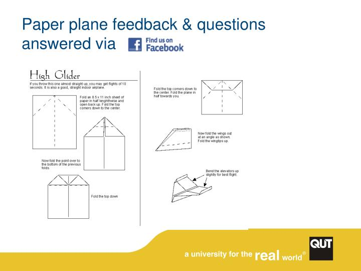 Paper plane feedback & questions answered via
