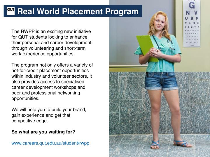 Real World Placement Program