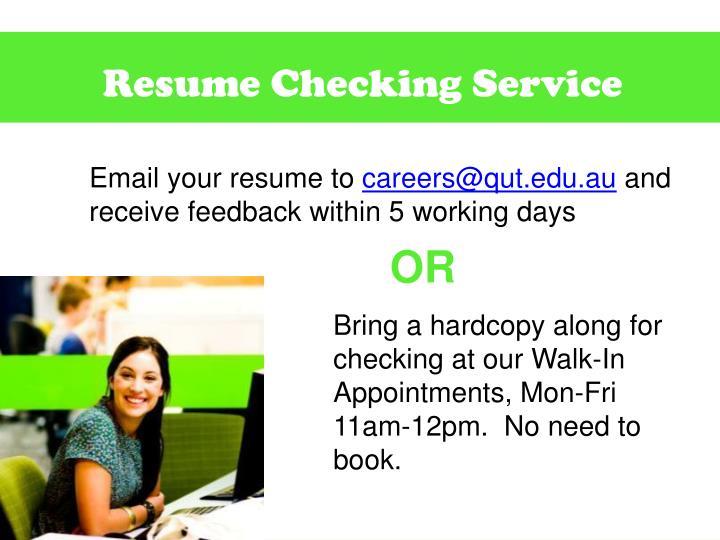Resume Checking Service