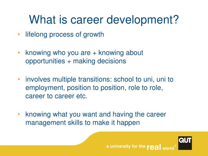 What is career development?