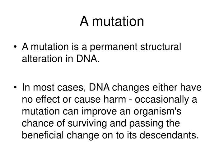 A mutation