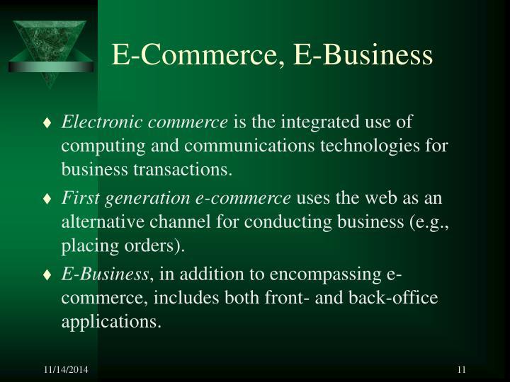 E-Commerce, E-Business