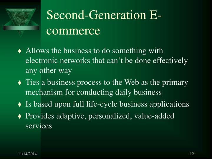 Second-Generation E-commerce