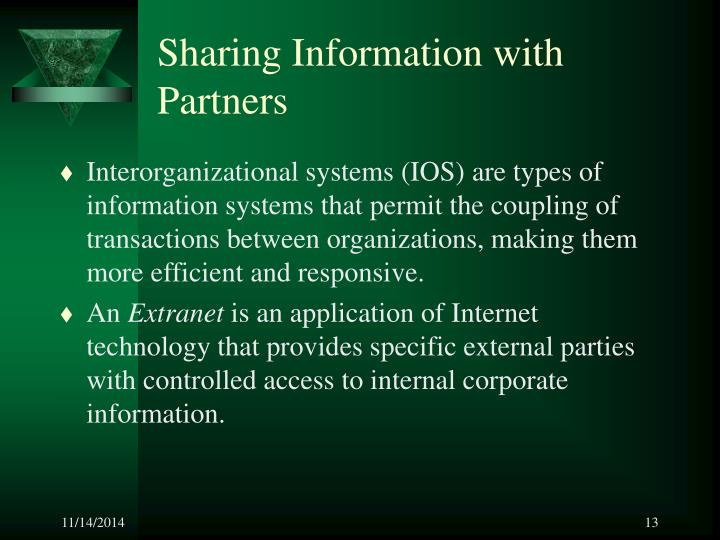 Sharing Information with Partners