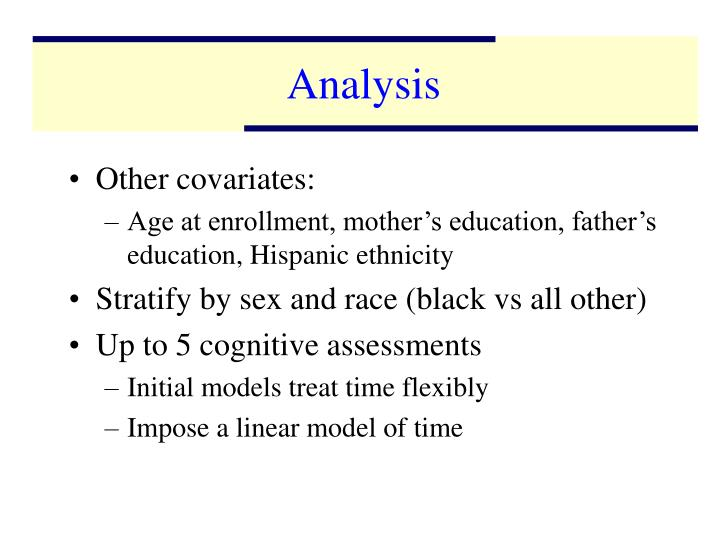 Other covariates: