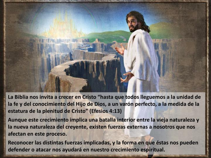 """La Biblia nos invita a crecer en Cristo """"hasta"""