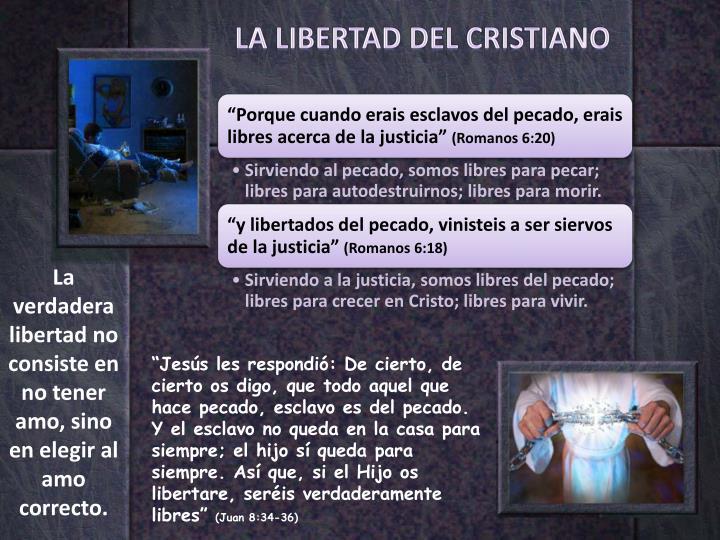LA LIBERTAD DEL CRISTIANO