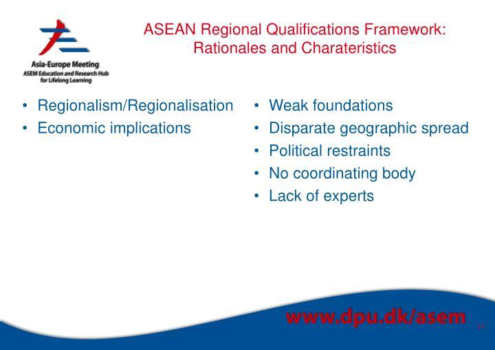 ASEAN Regional Qualifications Framework: