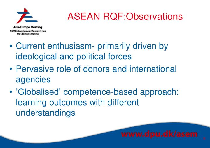 ASEAN RQF:Observations