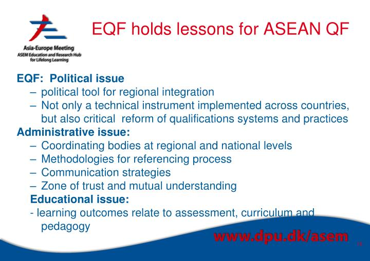 EQF holds lessons for ASEAN QF