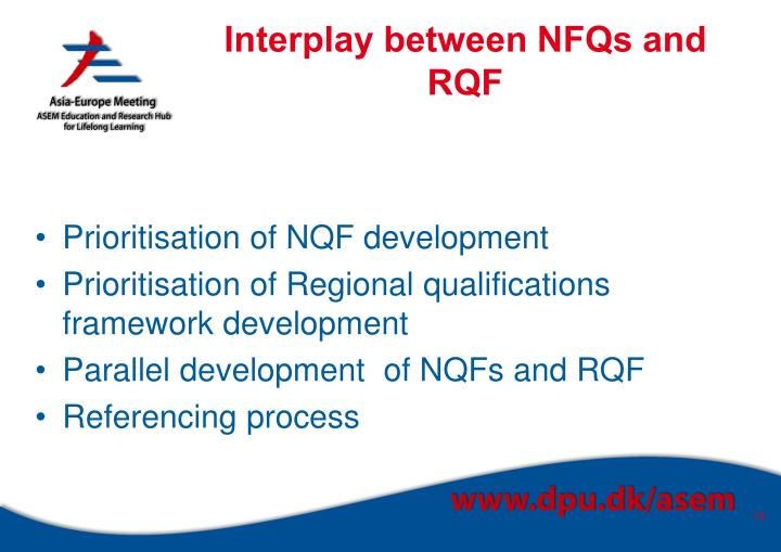 Interplay between NFQs and RQF