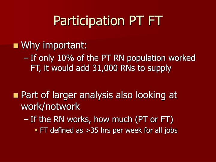 Participation PT FT
