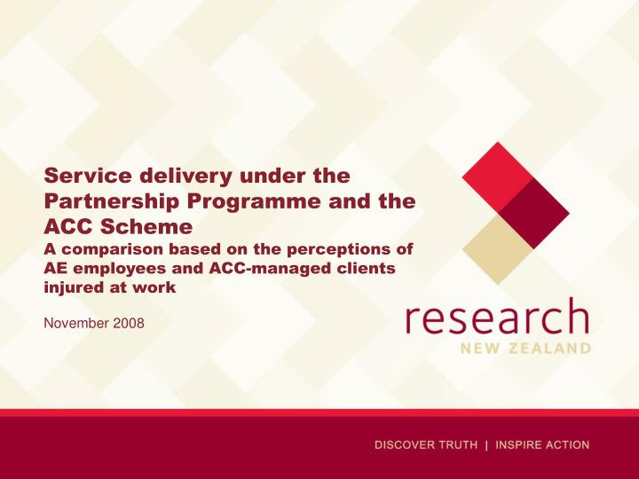 Service delivery under the Partnership Programme and the ACC Scheme