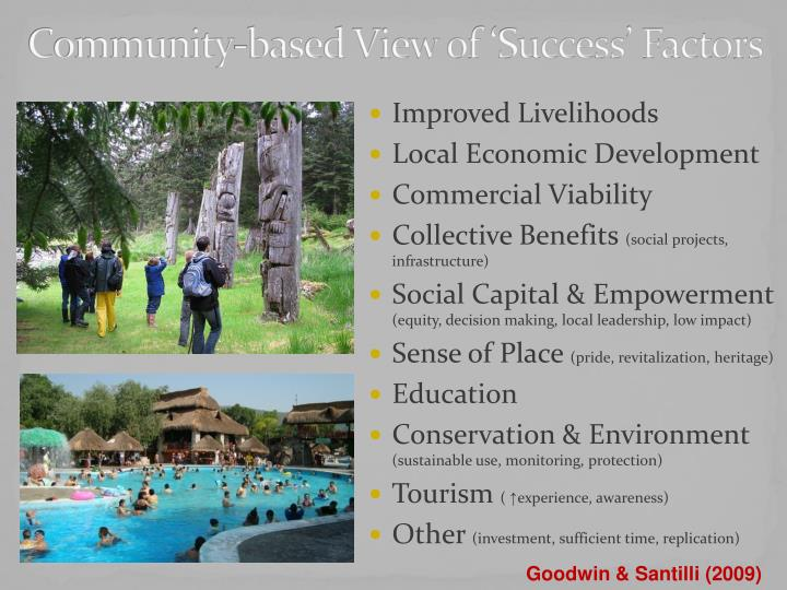 Community-based View of 'Success' Factors