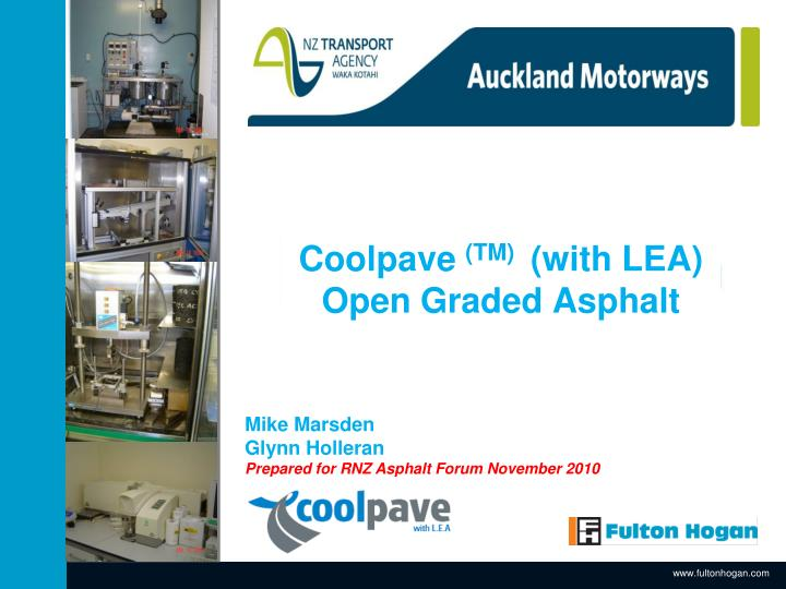 Coolpave tm with lea open graded asphalt