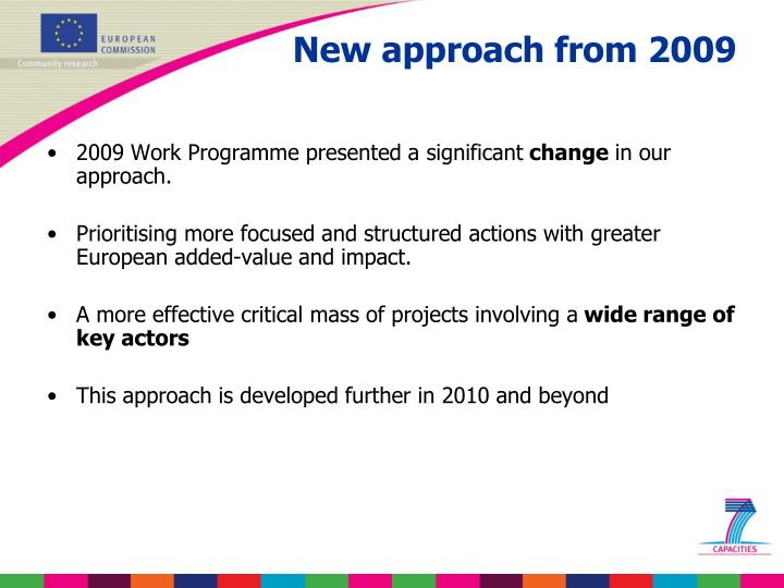 2009 Work Programme presented a significant