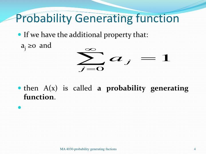Probability Generating function