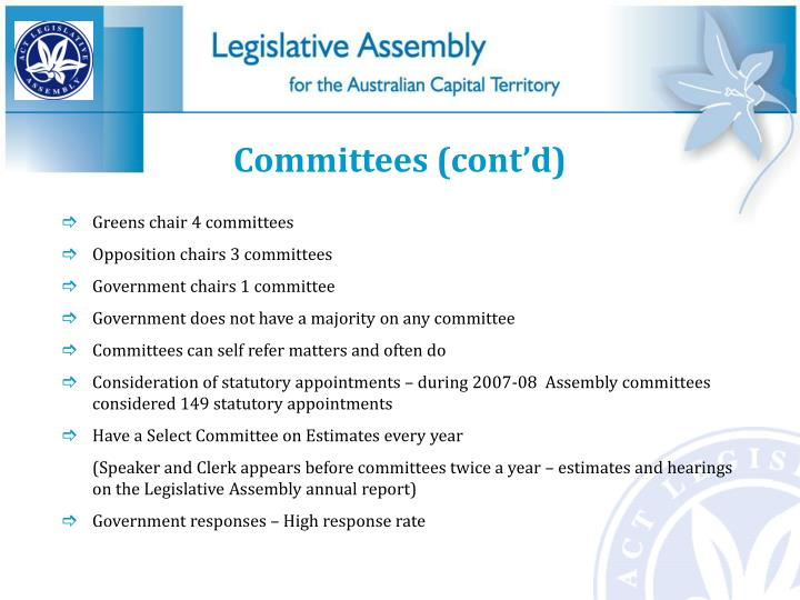 Committees (cont'd)