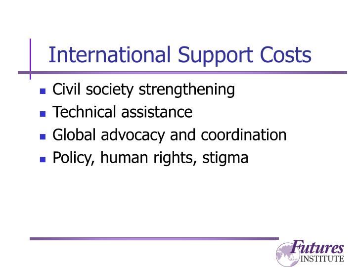 International Support Costs