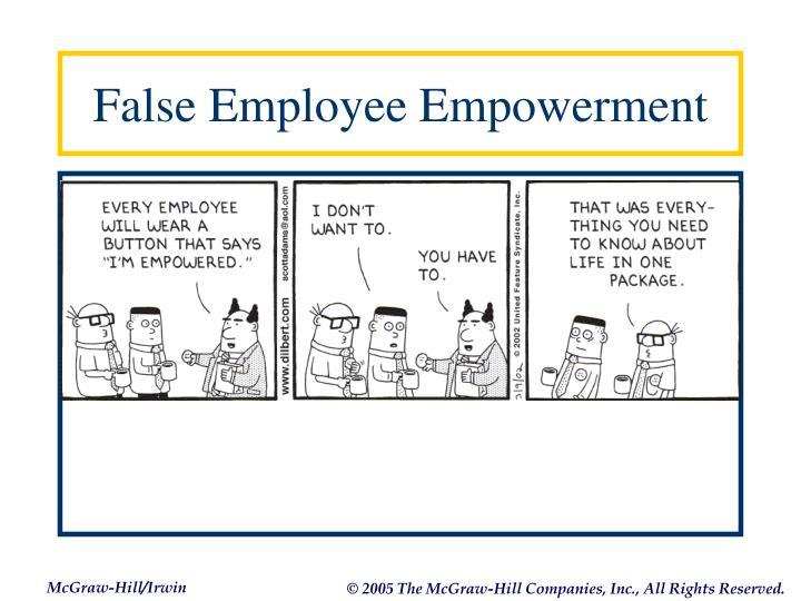 False Employee Empowerment