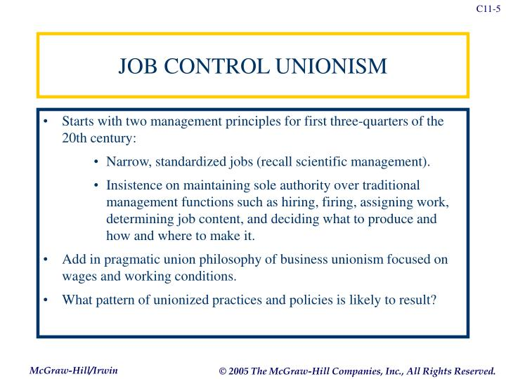JOB CONTROL UNIONISM