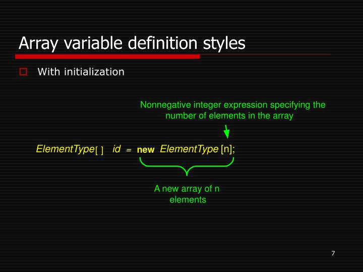 Nonnegative integer expression specifying the