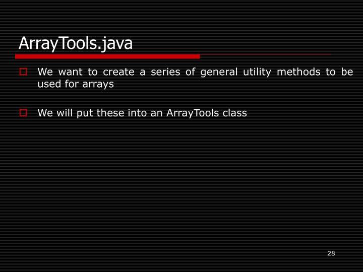 ArrayTools.java