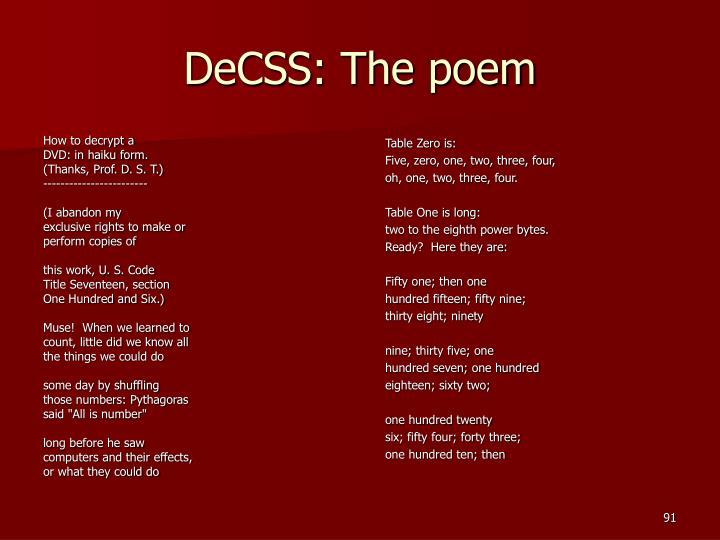 DeCSS: The poem