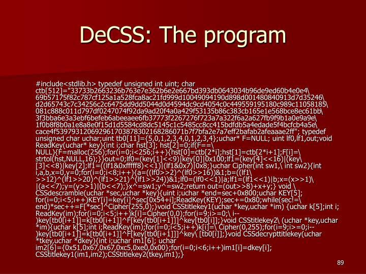 DeCSS: The program
