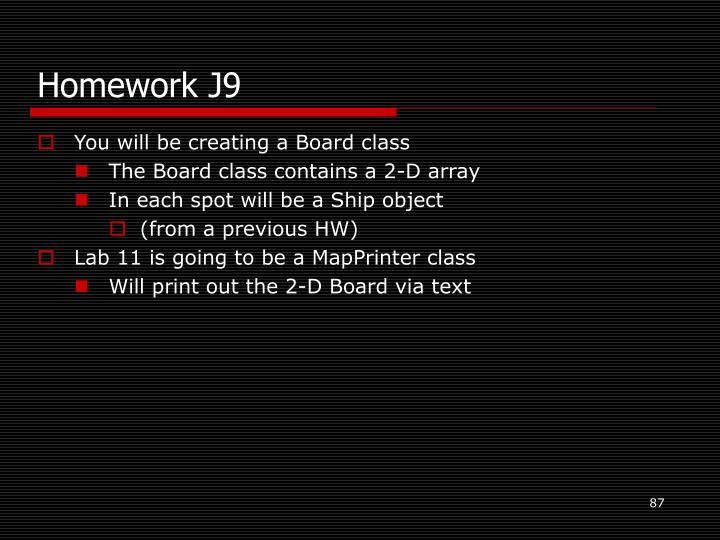 Homework J9