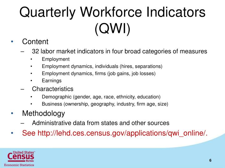 Quarterly Workforce Indicators (QWI)
