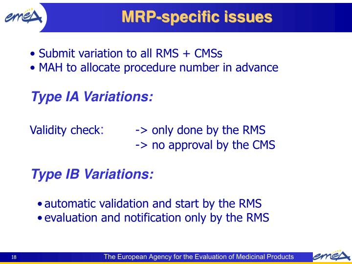 Submit variation to all RMS + CMSs