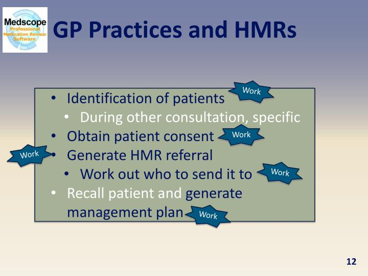 GP Practices and HMRs