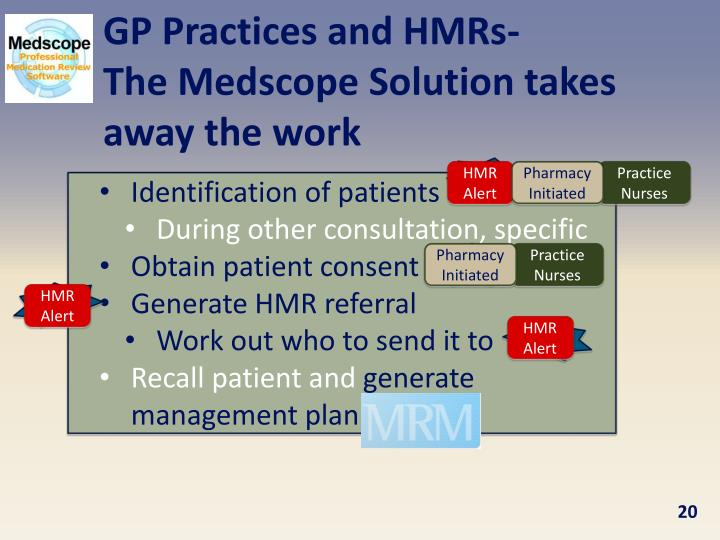 GP Practices and HMRs-