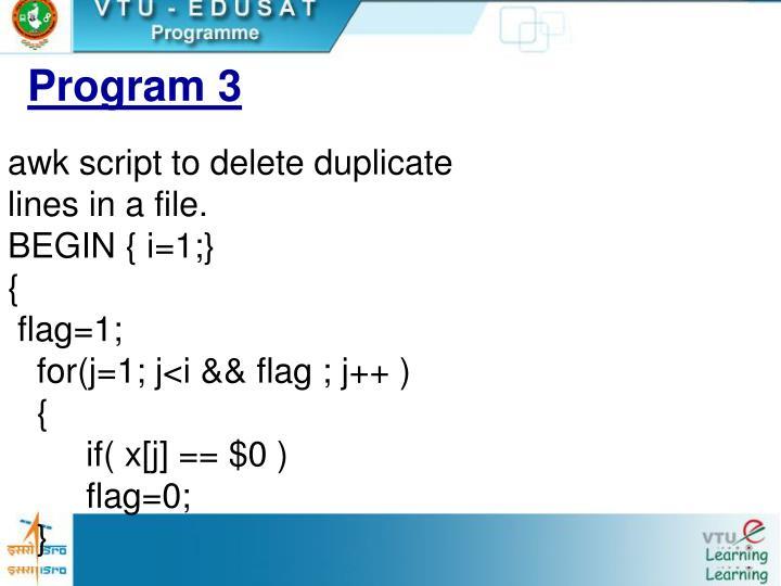 Program 3