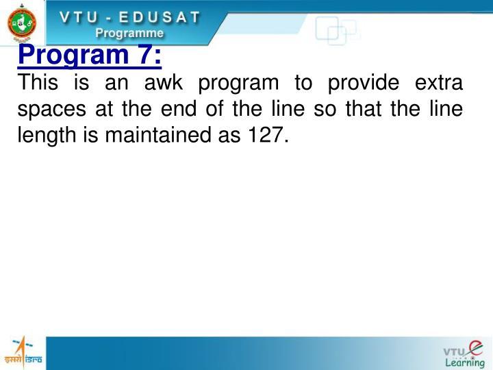 Program 7: