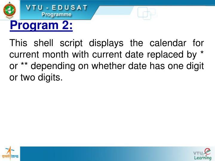 Program 2: