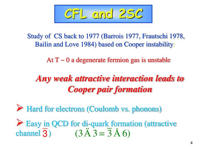 CFL and 2SC
