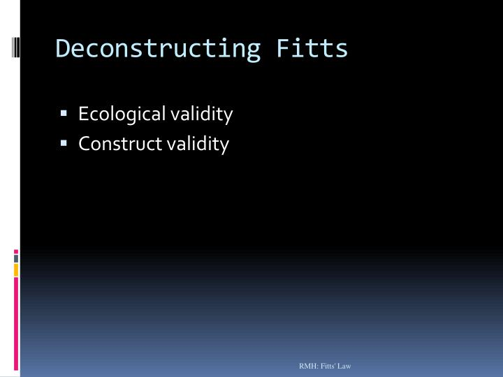 Deconstructing Fitts