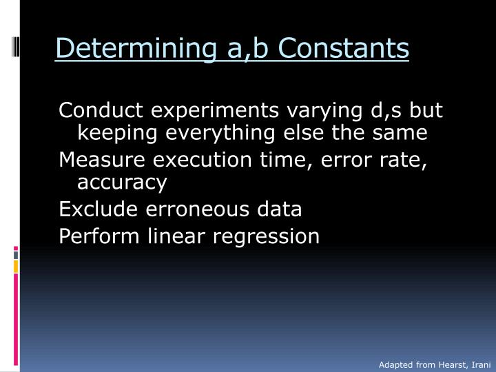 Determining a,b Constants