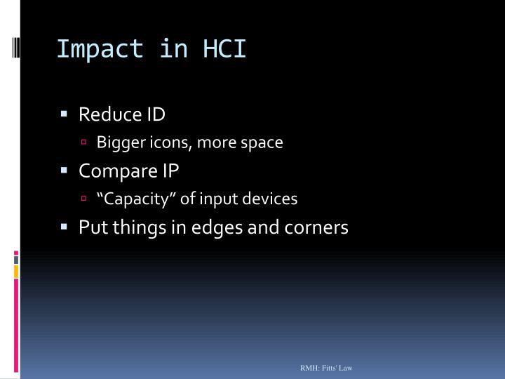 Impact in HCI