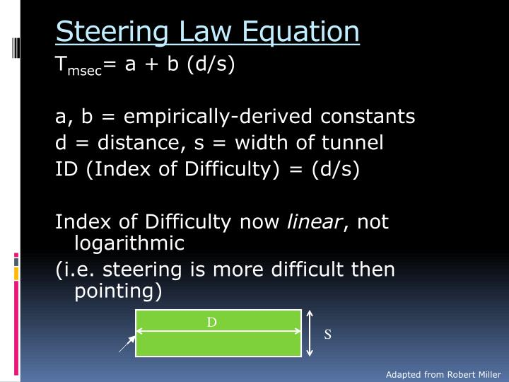 Steering Law Equation