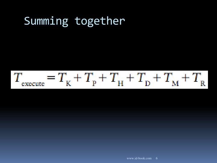 Summing together