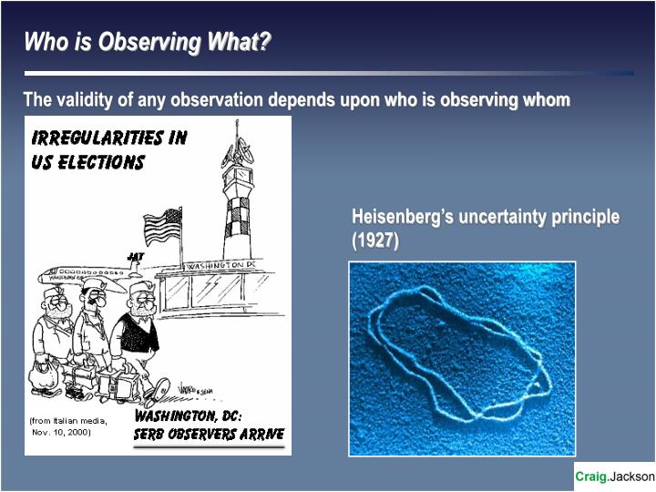 Who is Observing What?