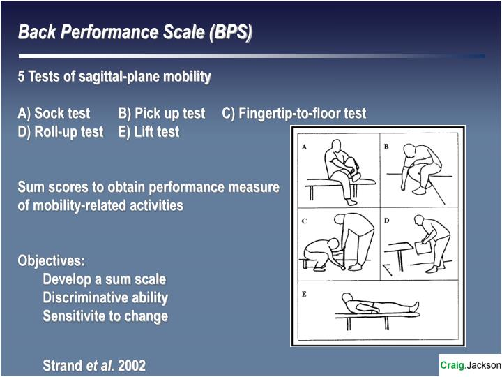 Back Performance Scale (BPS)