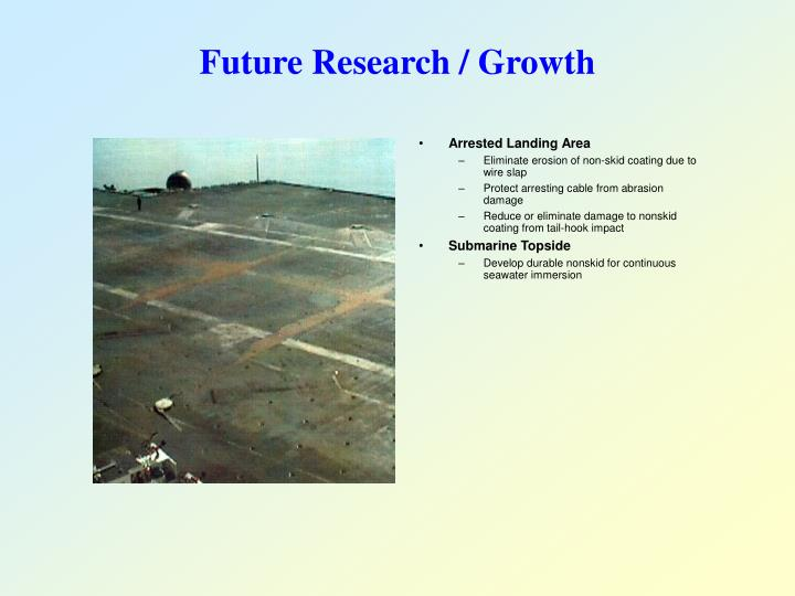 Future Research / Growth