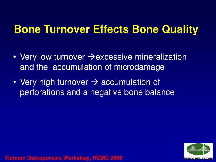 Bone Turnover Effects Bone Quality